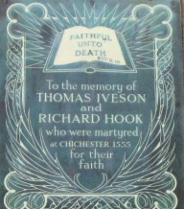 Chichester Martyrs Thomas Iveson and Richard Hook