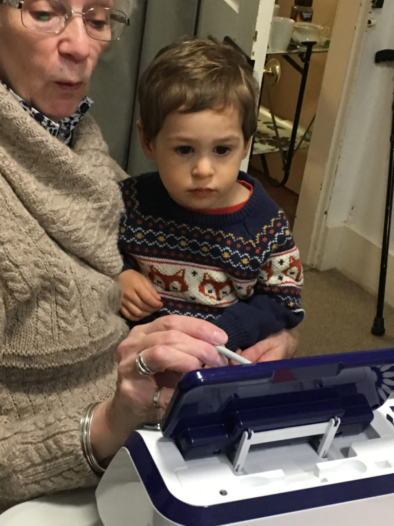One of the children was introduced to a Scan N Cut